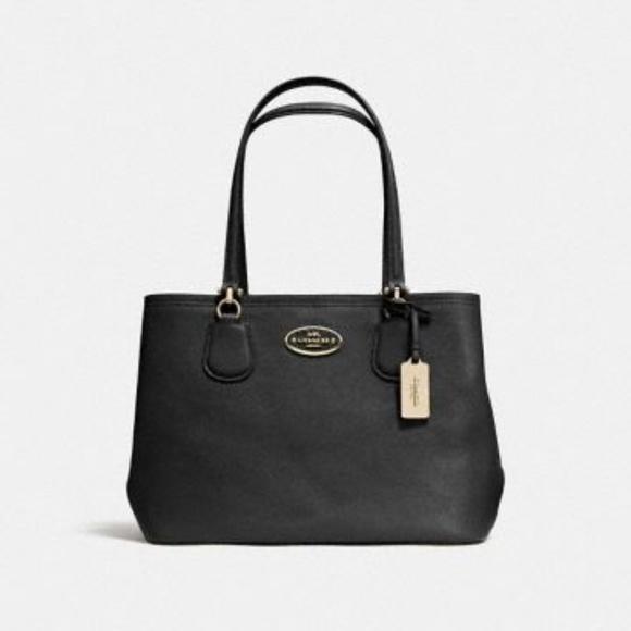 Coach Handbags - COACH Kitt Carryall Black & Gold **AUTHENTIC**